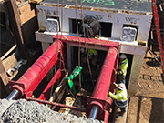 Tenbusch Box-Culvert Jacking Shield and Adapter on Job